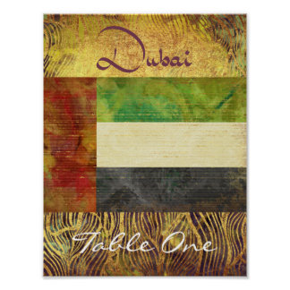 Dubai Table Number Poster