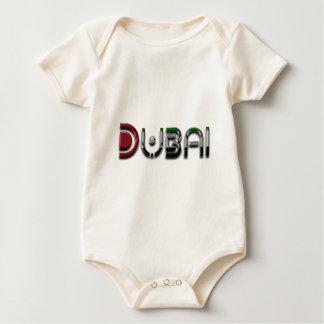 Dubai UAE Typography Elegant Text Only Baby Bodysuit
