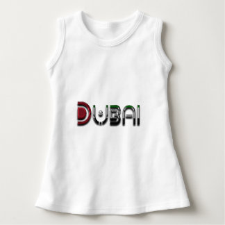 Dubai UAE Typography Elegant Text Only Dress