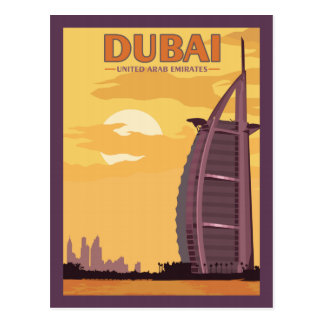 Dubai UAE - Vintage Travel Postcard