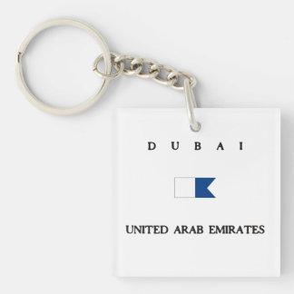 Dubai United Arab Emirates Alpha Dive Flag Key Ring