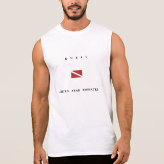 Dubai United Arab Emirates Scuba Dive Flag Sleeveless Shirt