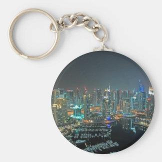 Dubai, United Arab Emirates skyline at night Key Ring