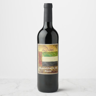 Dubai Wine Label