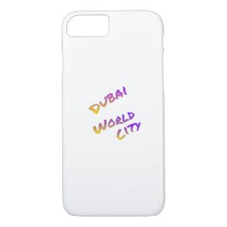 Dubai world city, colorful text art iPhone 8/7 case
