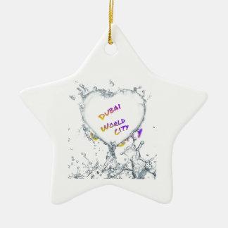 Dubai world city, Heart Water splash Ceramic Star Decoration