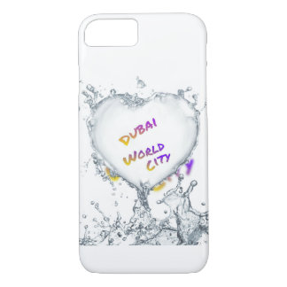 Dubai world city, Heart Water splash iPhone 8/7 Case