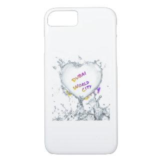 Dubai world city, Heart Water splash iPhone 8/7 Case