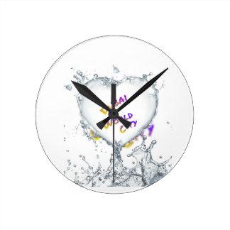 Dubai world city, Heart Water splash Round Clock