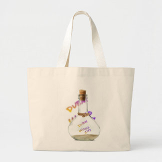 Dubai world city, Water Bottle Large Tote Bag
