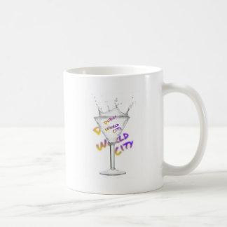 Dubai world city, water glass coffee mug
