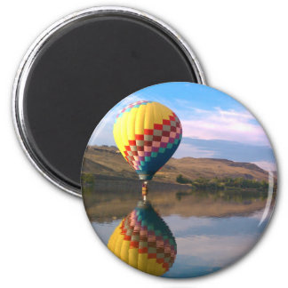 Dubble RAINBOW.  Hotair balloon on the snake river Magnet