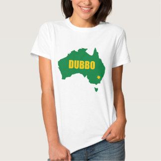 Dubbo Green and Gold Map T Shirt