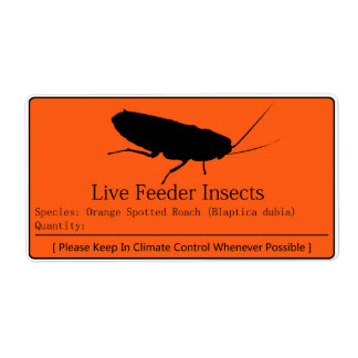 Dubia Roach Label
