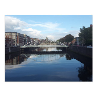 Dublin Bridge Landscape Postcard