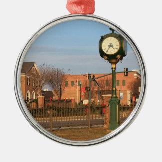 Dublin Christmas scene with the big clock Metal Ornament