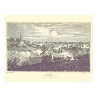 Dublin City From Phoenix Park 1825 Postcard