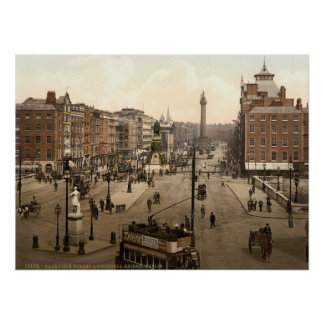 Dublin City View Poster