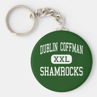 Dublin Coffman - Shamrocks - High - Dublin Ohio Basic Round Button Key Ring