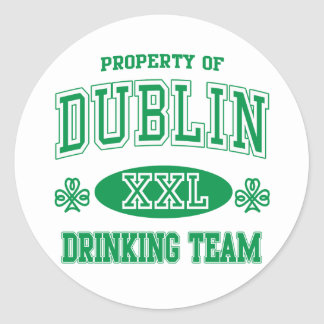 Dublin Drinking Team Classic Round Sticker