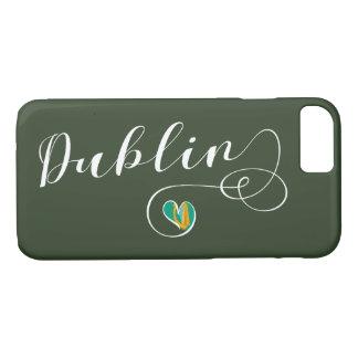 Dublin Heart Cell Phone Case, Ireland iPhone 8/7 Case