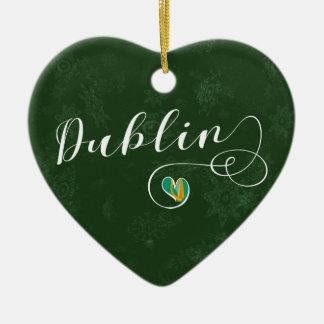 Dublin Heart, Christmas Tree Ornament