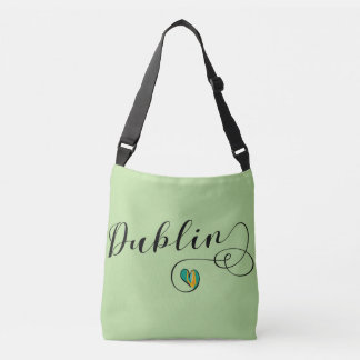 Dublin Heart Customizable Bag, Ireland Irish Crossbody Bag