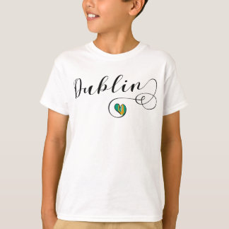 Dublin Heart Tee Shirt, Ireland