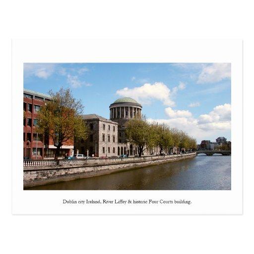 Dublin Ireland postcard, Four Courts building