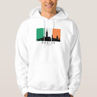 Dublin Ireland Skyline Irish Flag Hoodie