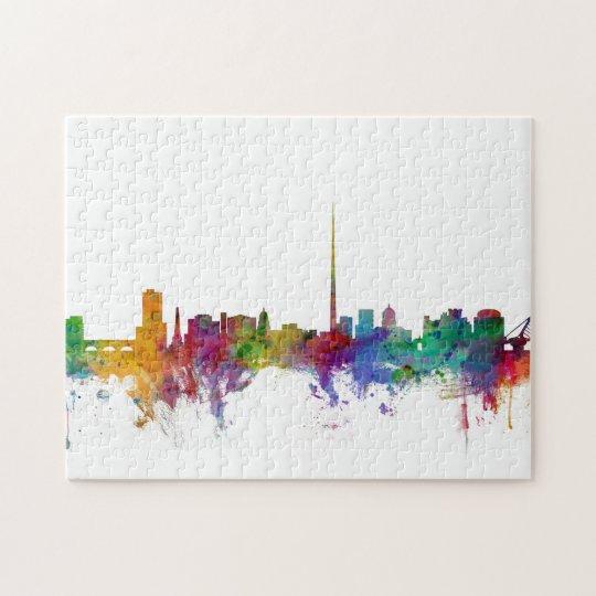 Dublin Ireland Skyline Jigsaw Puzzle