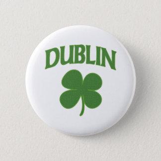 Dublin Irish Shamrock 6 Cm Round Badge