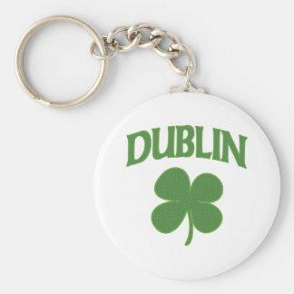 Dublin Irish Shamrock Keychain