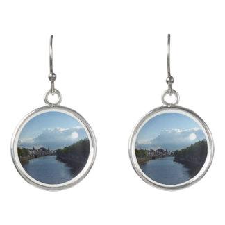 Dublin River Liffey Landscape Drop Earrings