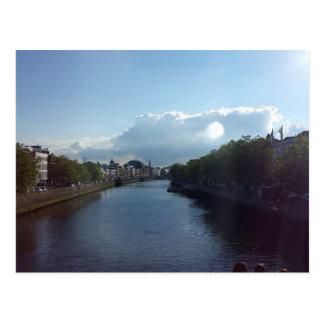 Dublin River Liffey Landscape Postcard