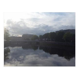 Dublin River Sunrise Postcard