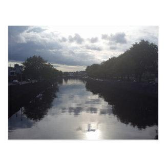 Dublin River Sunset Postcard