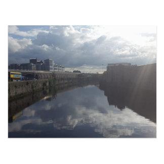 Dublin Riverbank Postcard