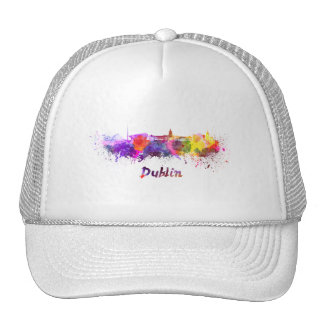 Dublin skyline in watercolor cap