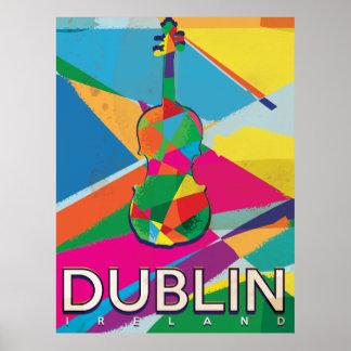 Dublin Vintage Travel poster