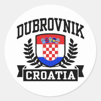 Dubrovnik Croatia Classic Round Sticker