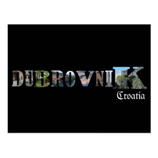 Dubrovnik, Croatia, postcard