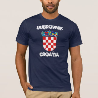 Dubrovnik, Croatia with coat of arms T-Shirt