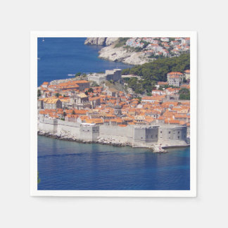 Dubrovnik panoramic view paper serviettes