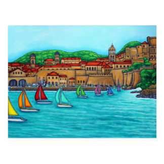 Dubrovnik Regatta by Lisa Lorenz Postcard