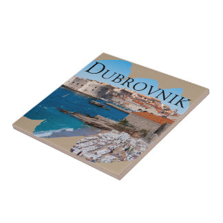 Dubrovnik with a View Ceramic Tile