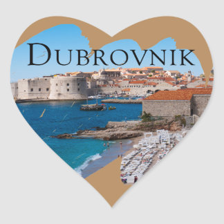 Dubrovnik with a View Heart Sticker
