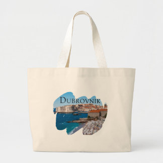 Dubrovnik with a View Large Tote Bag