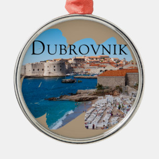 Dubrovnik with a View Metal Ornament