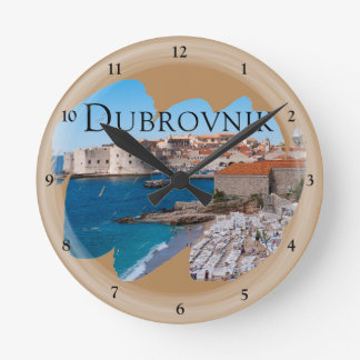 Dubrovnik with a View Round Clock